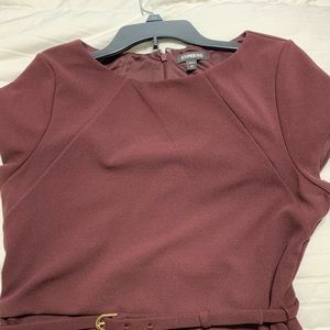 Express burgundy sheath dress